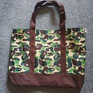 Bape Camo Nylon Tote Bag